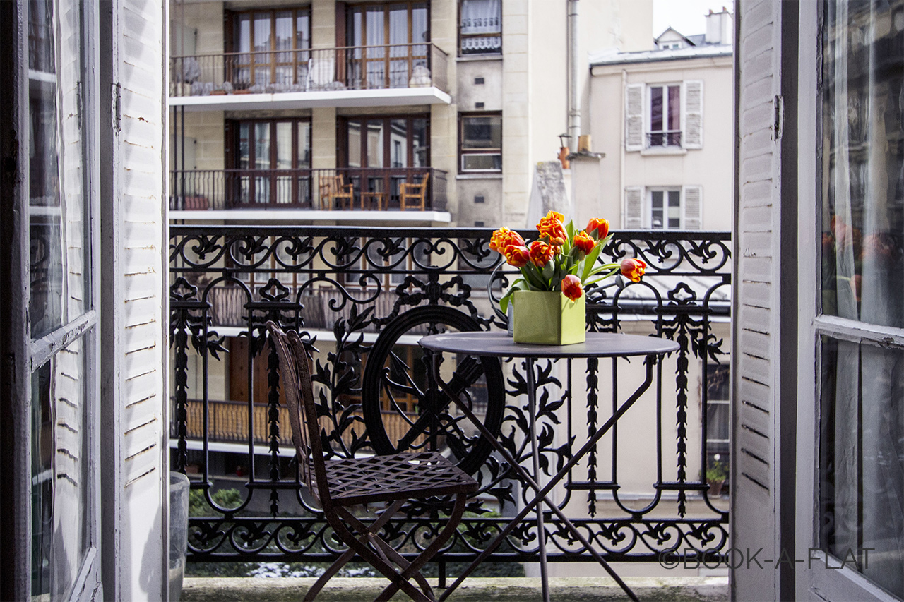 Balcony with garden table